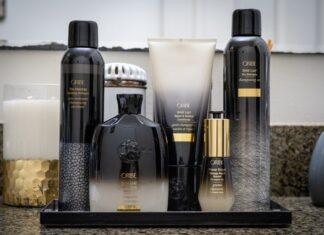 Czarno złote opakowania kosmetyków do włosów